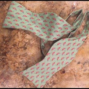 Tommy Hilfiger bow tie- green with pink whales